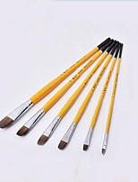 alta calidad seis pinceles fijan las herramientas de pintura