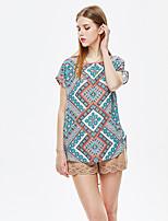 Heart Soul® Women's Round Neck Short Sleeve T Shirt Blue-11AA28141