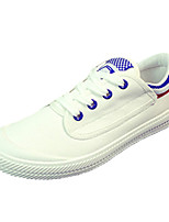 Women's Shoes PU Flat Heel Comfort Fashion Sneakers Athletic Black / Blue / Green
