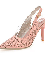 Women's Shoes Stiletto Heel Heels / Pointed Toe Heels Wedding / Dress Pink / Purple / White