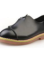 Mujer-Tacón Plano-Confort-Zapatos de taco bajo y Slip-Ons-Casual-PU-Negro / Amarillo / Blanco
