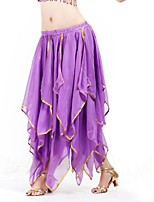 Belly Dance Bottoms Women's Performance Chiffon Cascading Ruffle / Draped 1 Piece
