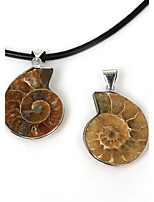 Beadia 28x45mm Natural Ammonite Conch Shell Pendant (1Pc)
