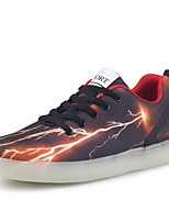 Men's LED Shoes Comfort / Round Toe Flats Outdoor / Casual&Party Shoes Black and Red