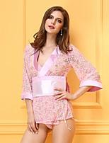 Vêtement de nuit FemmeBustiers Correspondants / Robe de chambre / Ultra Sexy / Body / Uniformes & Tenues Chinoises / Costumes / Nuisette