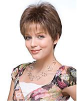 pelucas cosplay de color marrón calientan la peluca sintética resistente al por mayor partido corto rizado cosplay