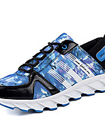 Men's Spring / Summer / Fall Comfort Tulle Casual Flat Heel Blue / Black and White / Orange Sneaker