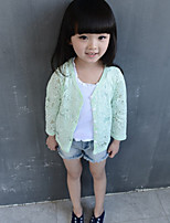 Girl's Casual/Daily Floral Suit & Blazer,Polyester Summer Blue / Green / Pink / White