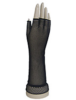 Dance Accessories Stage Performance Half Finger Elbow Length Fish Net Gloves Night Club Sexy Fish Net Gloves