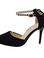 Women's Heels Summer Heels Fleece Casual Stiletto Heel Buckle Black / Purple Others