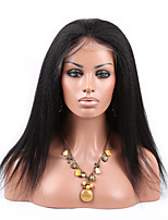 EVAWIGS Brazilian Virgin Human Hair Kinky Straight 150% Density Lace Front Wig