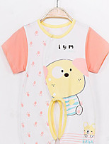 Baby Casual/Daily Animal Print Clothing Set-Cotton-Summer-Blue / Red / Yellow