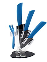 345 - inch color black ceramic knife blade handle 5 sets of kitchen suits commonly used tools