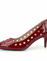 New Women's Shoes Leather Summer  Heels Wedding Stiletto Heel Shoes Red