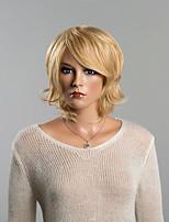 sin tapa recta corta la mano del hombre del pelo de Remy de la moda de la mujer en capas ata pelucas superiores