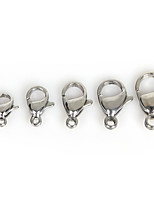 Beadia 50Pcs Stainless Steel Laster Clasp Fit Necklace & Bracelet(Mixed 5 Sizes)