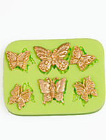 6 Filigree Butterflies Silicone Mold for Chocolate Polymer Clay Candy Making Sugarcraft Tools Cake Decoration Mould