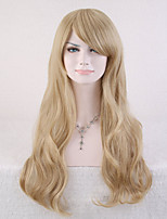 Capless Blonde Color High Quality Natural Curly Synthetic Wig