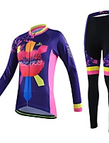 Sports Cycling Jersey with Tights Women's / Unisex Long Sleeve BikeBreathable / Quick Dry / Wearable / Compression / 3D Pad / Back Pocket