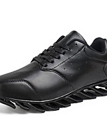 Men's Spring / Fall Comfort / Round Toe PU Outdoor / Casual Flat Heel Black Sneaker