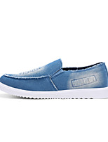 Men's Shoes Denim Casual Walking Flat Heel Slip-on Black / Blue EU39-43