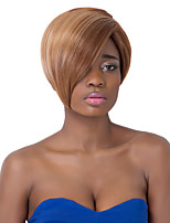 European Charming Short Sythetic Straight Oblique Bang Party Wig For Women