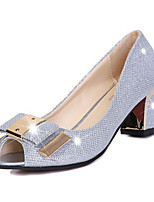 Women's Shoes PU Summer Heels Heels Casual Chunky Heel Others Silver / Gold