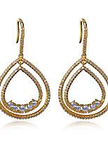 Forme Ovale,Bijoux 1 paire A la Mode Doré / Blanc / Cuivré Zircon / Cuivre / Platiné / Plaqué orMariage / Soirée / Quotidien /