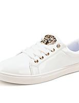 Hombre-Tacón Plano-Confort-Zapatillas de deporte-Exterior / Casual / Deporte-Microfibra-Negro / Blanco