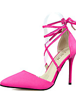 Women's Shoes Fleece Summer Heels Heels Casual Stiletto Heel Others Black / Gray / Fuchsia