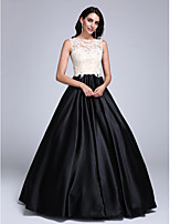 TS Couture® Prom Dress Ball Gown Jewel Floor-length Lace / Stretch Satin with Appliques / Beading