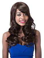 European Vogue long High Temperature Fiber Curly Side Bang Party Wig For Women