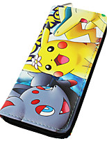 Carteras Pocket Monster Ash Ketchum Animé Accesorios Cosplay Amarillo Cuero PU