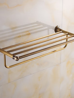 Bathroom Shelf / Brushed / Wall Mounted /60*15*10 /Brass /Antique /60 15 1.412