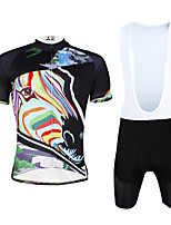 Cycyling PaladinSport Men Shirt +Straps Shorts Suit DBT633 Color The Zebra