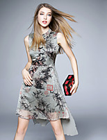 BOMOVO® Women's Round Neck Sleeveless Knee-length Dress-B16XQ6F