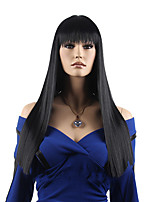 Capless Black Color High Quality Long Straight Synthetic Wig