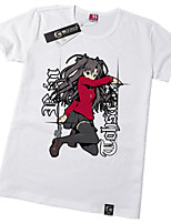 Inspired by Fate/Zero Rin Tohsaka Anime Cosplay Costumes Cosplay Tops/Bottoms Print White Short Sleeve T-shirt