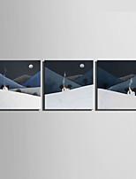 Set Tela Paesaggi Stile europeo,Tre Pannelli Tela Quadrata Stampa artistica Wall Decor