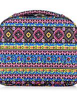 DAVIDJONES Women's Fashion Casual Multifunctional Polyester Cosmetic Makeup Bag Storage Tote Organizer-Fuchsia