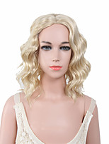 Capless Blonde Color High Quality Natural Wave Synthetic Wig
