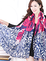 Cotton Long Autumn Winter Scarf Voile Scarves Butterfly Print Big Shawl