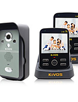 KiVOS Wireless Visual Intercom Doorbell Household Anti-Theft Doorbell Remote Monitoring Camera Lock KDB300
