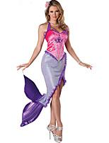 Costumes Déguisements de contes de fées / Mermaid Tail Halloween / Noël / Carnaval / Fête d'Octobre / Nouvel an Violet Mosaïque Polyester