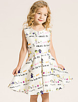 Girl's Cotton Summer Graceful And Sweet Princess Printing Dress