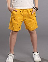 Boy's Casual/Daily Print Pants,Cotton Summer Blue / White / Yellow