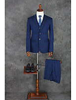 Suits Standard Fit Notch Single Breasted Two-buttons Polyester Checkered 3 Pieces  Straight Flapped