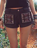 Aporia.As® Femme Taille Normale Shorts Noir Pour tous les jours Pantalon-MZ11051