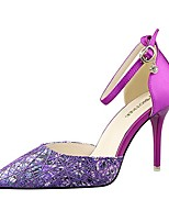 Women's Shoes AmiGirl Sunny New Style Party/Wedding/Dress Black/Gray/Purple/Fuchsia Sexy Stiletto Heels