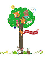Wall Stickers Wall Decals Style Squirrel Animal Tree PVC Wall Stickers